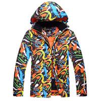 Ski Jackets Men Graffiti color Waterproof Windproof Warm Winter Snowboard Jackets Outdoor Snow Skiing Clothes
