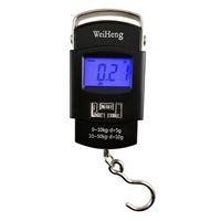 50kg / 10g 전자 휴대용 디지털 저울 걸려 낚시 여행화물 무게 규모 균형 저울 야외 가제트 OOA4986