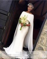 Abiti da sposa bianchi semplici 2018 Abiti da sposa eleganti della sirena stile capo del capo Abiti da sposa economici sudafricani personalizzati