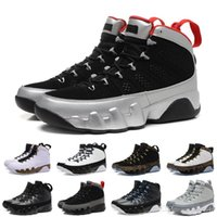 [With Box] 9 mans Basketball Shoes Cool Grey Black White Red...