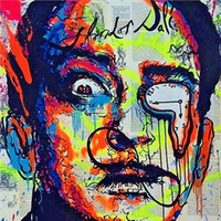 Alec Monopoly Urban art Oil Painting Salvador Dali Hand Pain...