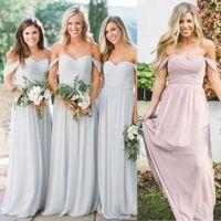 КЕННЕДИ ШИФОН КАБРИОЛЕТОГО ПЛАТЬЕ Дешевое Серое Платье невеста для венчания Длинного шифоновых A-Line Backless официально платья партии Lace Modest