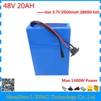 UE EE. UU. Sin impuestos batería de 48 voltios de bicicleta eléctrica 48v 20ah 1000W Batería de litio 48V 20AH batería de scooter con cargador BMS 54.6V 2A