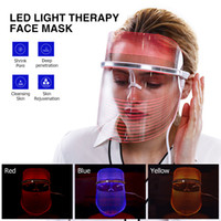 Lightweight 3 Color LED light Therapy machine LED Facial Mas...