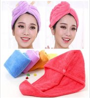 50pcs Shower Caps For Magic Quick Dry Hair Microfiber Towel ...