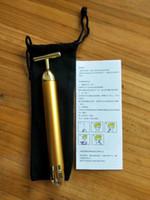 Pulso de Energia Beauty Bar Ouro 24K endurecimento Massager Rolo Facial Massager Derma Skincare rugas Tratamento de Rosto Massager com caixa DHL