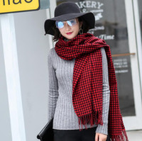 New fashion warm women scarf imitation cashmere plaid wraps ...