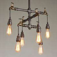 Retro Wasserpfeife führte hängende Leuchterlampen für hängende Leuchte der kreativen künstlerischen hängenden Beleuchtung des Kaffeestube-Barclub-Hotelrestaurants