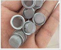 Fumo Schermi Ciotola a forma di cristallo di quarzo Pipa da fumo Filtri metallici da fumo Accessori per fumatori 15mm 16mm 17mm Diametro tondo