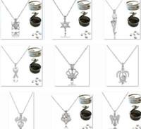 Aushöhlen Perlenketten Silberkette Halskette Frauen Schmuck 925 Sterling Silber Halskette natürliche Perlen Ketten Perle Anhänger Halsketten