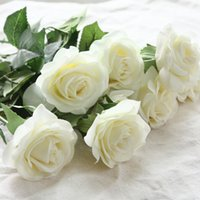6 Heads Real Touch Spring Latex Flowers Artificial Rose Flow...