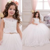 Floor Length Chiffon Flower Girls Dresses For Weddings A Lin...