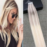 Balayage color 16- 24 inch Glue Skin Weft PU Tape in Human H...