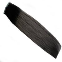 Appliquer du ruban adhésif Ombre de bande de trame de peau trame adhésive dans les extensions de cheveux humains Extensions T1B / gris argenté Extensions de cheveux de bande blonde