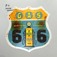DL- Gas oil station last changes route66 classic metal sign o...