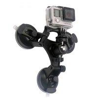자동차 윈드 실드 트리플 흡입 컵 지방 도마뱀 마운트 홀더 브래킷 Gopro SJCAM 액션 카메라 DSLR 카메라