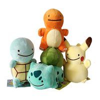 Hot Sale 4pcs Lot 12- 16cm Pikachu Charmander Squirtle Bulbas...