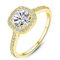 Kübik Zirkon Nişan Yüzüğü Beyaz Zirkon Taş Yüzük Boyutu 6 7 8 9 Ayarlanabilir Yüzük Platin Gül Altın Sarı Altın Renk Kadınlar için