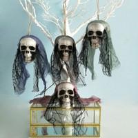 Halloween-Prop-Schaum Schädel Dekor Ghoast Kopf hängenden Ornament furchterregenden Dekorationen für Bar House Party Bühne gesetzt