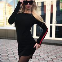 437294663c 2018 Autumn Women Fashion Black Dress Elegant O Neck Full Hippie Boho  Casual Sundresses Sheath Cheap Clothing China Hippie Dress