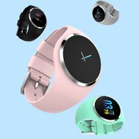 Donna Fitness Smart Watch Donna che corre cardiofrequenzimetro Bluetooth pressione del pedometro Touch intelligente orologio sportivo