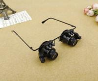 Hochwertige Fernglas mit LED-Lampe Uhren Repair Tool 20X Kopf Lupe Repair Tool Uhr