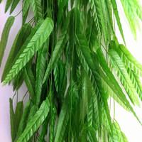 Artificial Willow ramita de hoja de ratán Artificial de vid de mimbre Plantas verdes Garland Plants Vine Fake Follaje Inicio Decoración de la boda de Navidad