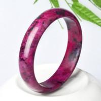 Natural Plum Blossom Jade Braccialetto femminile Peach Jade Jewelry Jade Crafts Bloodstone Bracelet