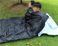 Outdoor Camping Wandern Doppel Mann Liebhaber Schlafsäcke Mit Zwei Kissen Herbst Winter Thermische Tasche Beste Heißer Verkauf 110at dd