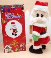 Christmas electric Santa Claus toys dynamic shaking music el...