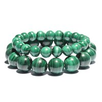 Natural Stone Chakra Bracelets Charm Quartz Malachite Women ...