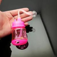 Цветная пластиковая бутылка горшок Оптовая стеклянные бонги масляная горелка стеклянные трубы водопроводные трубы стеклянная труба масло