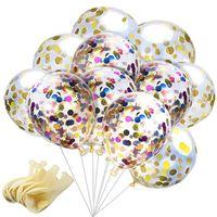 12 pollici paillettes riempito palloncini chiari novità giocattoli per bambini bella festa di compleanno decorazioni di nozze 8 stili C4318