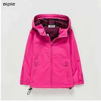 aipie новые дети девушки куртки повседневная твердые стиль защиты от ветра и дождя пальто верхняя одежда для детей Одежда