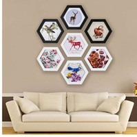 Fashion Hexagon Photo Frame Matrimonio Cornice Wall Mounted Home Family Art Picture Holder Decorazione della casa Regalo di nozze