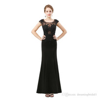 Lace Applique Black Mermaid Prom Dresses 2018 New Sleeveless...
