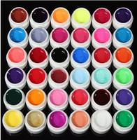 새로운 36 순수 컬러 네일 아트 UV 젤 솔리드 확장 매니큐어 빌더 폴란드어 램프 세트