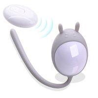 Control remoto inalámbrico vibrante bala de silicona Vibradores de huevo USB recargable masaje bola adulto juguetes sexuales