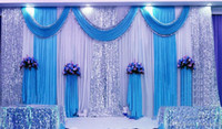3*6m (10ft*20ft) Wedding Curtain Backdrops with dense Sequin...