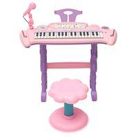 Pink 37 Key Kids Электронная Клавиатура Фортепиано Орган Игрушка / Микрофон Музыка Play дети Развивающие Игрушки Подарок Для Детей