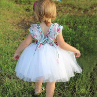 Lace Baby Girls Princess Dress New 2018 Floral Tulle Toddler...