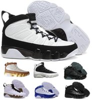 Cheap 9 Basketball Shoes Mens Womens White 9s VIIII Bred Spa...