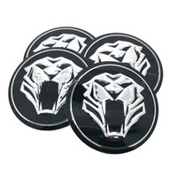Tiger kopf auto lenkung reifen radmitte auto aufkleber hub cap emblem abzeichen aufkleber für jaguar hubcap audi bmw nissan ford 56mm