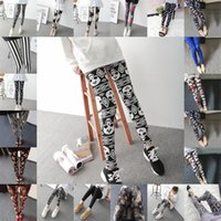 20 Styles Femmes Leggings Graphique Imprimé Lady Skinny Extensible Confortable Pantalon Gym Crayon Fit Doux FS5085