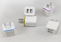2 شاحن حائط USB معدن شاحن حائط USB مزدوج 2.1A محول طاقة USB للهواتف Samsung / iPhone / HTC / Android