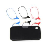 쉬운 운반용 클립 코 노즈 안경 남성용 여성용 미니 스핀 옵틱 옐로 스페셜 안경 +1.50 ~ + 3.00presbyopic 안경