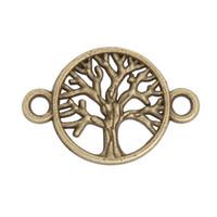 Online Großhandel Mode Antike Bronze Überzogene Baum Verbinder Charme Für Armbänder, 16 * 24mm AAC1519