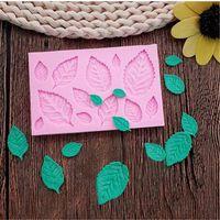 Freies Verschiffen Blätter Fondant-Silikon-Form Zucker-Kuchen-Form-Kuchen-Dekoration-Werkzeug DIY Kuchen