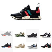 (With Box) 2018 R1 Shoes Mens shoes OG NMD off shoes Japan T...