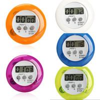 Couleur de la sucrerie Magnétique LCD Numérique Cuisine Minuterie Alarme Minuterie avec Support Minuterie De Cuisine Pratique Minuterie De Réveil Alarme